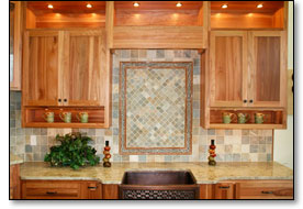 Enhance your kitchen with the beauty of natural stone tile.